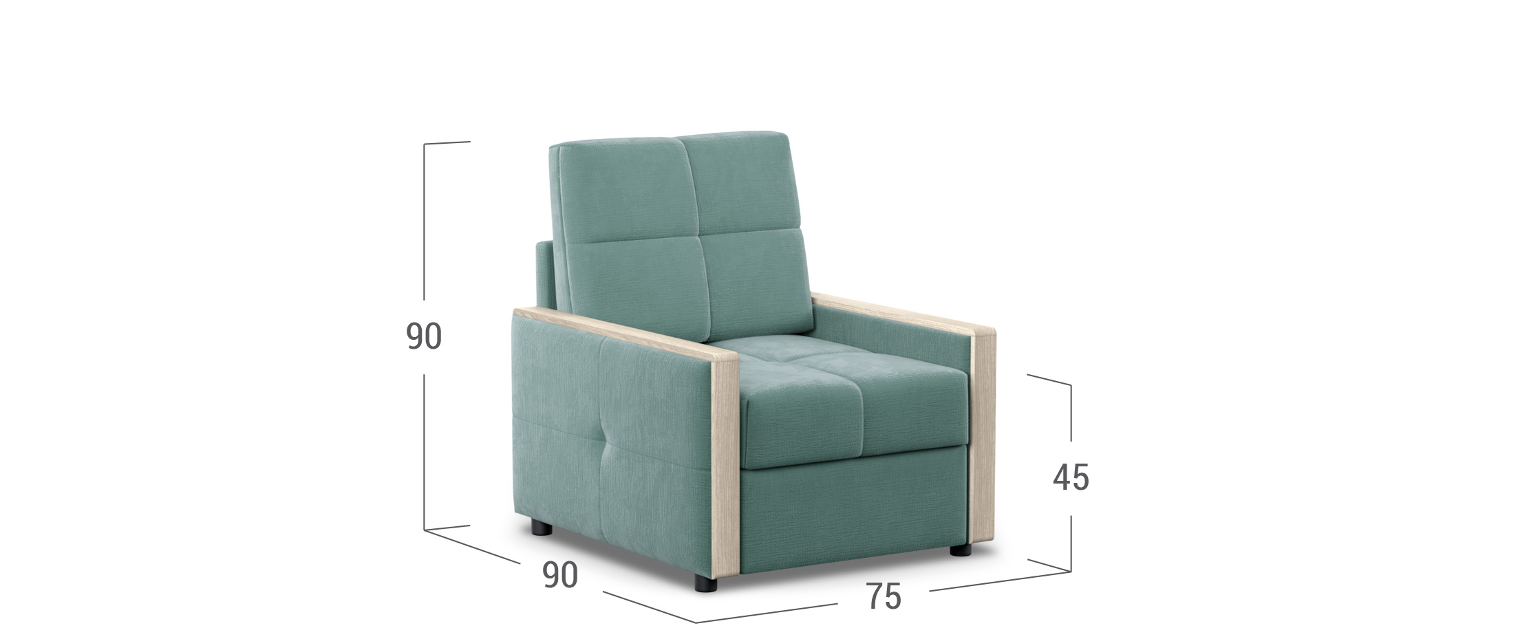 Кресло тканевое Мадрид 125