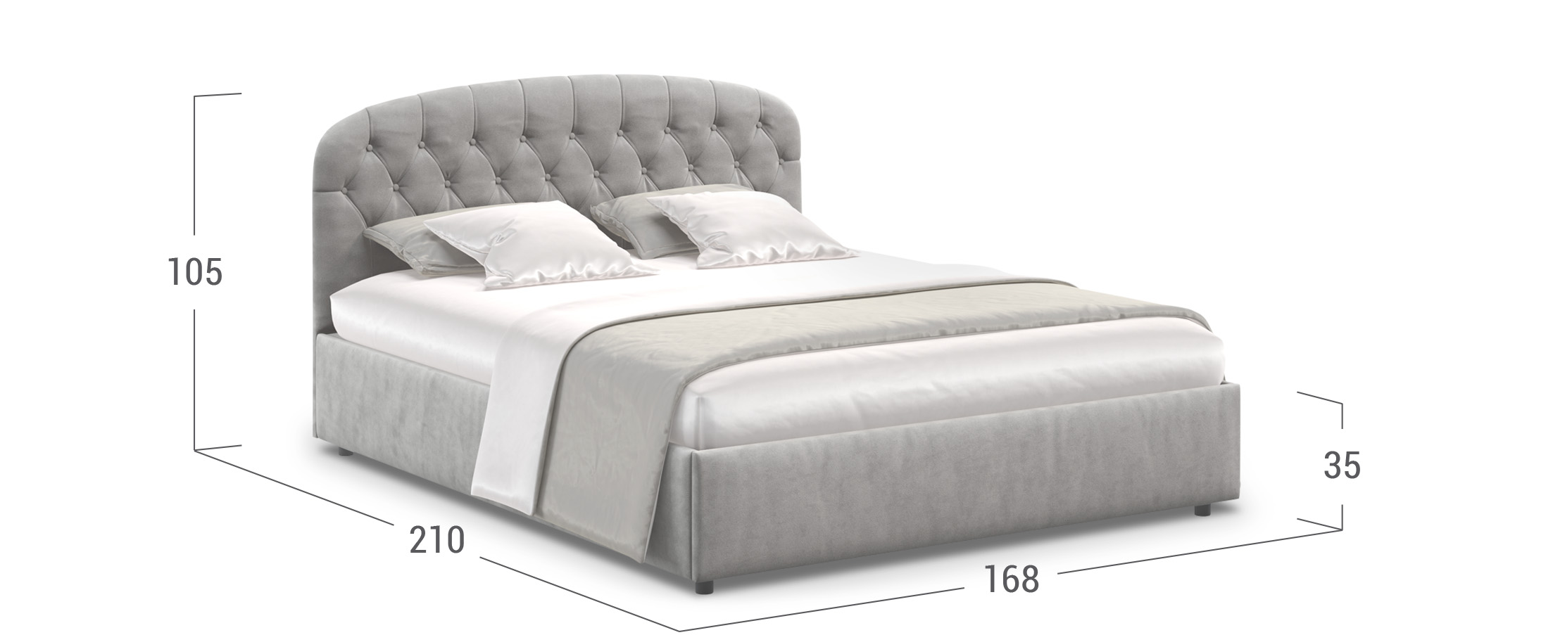 Кровать двуспальная Бьянка 160х200 Модель 1207