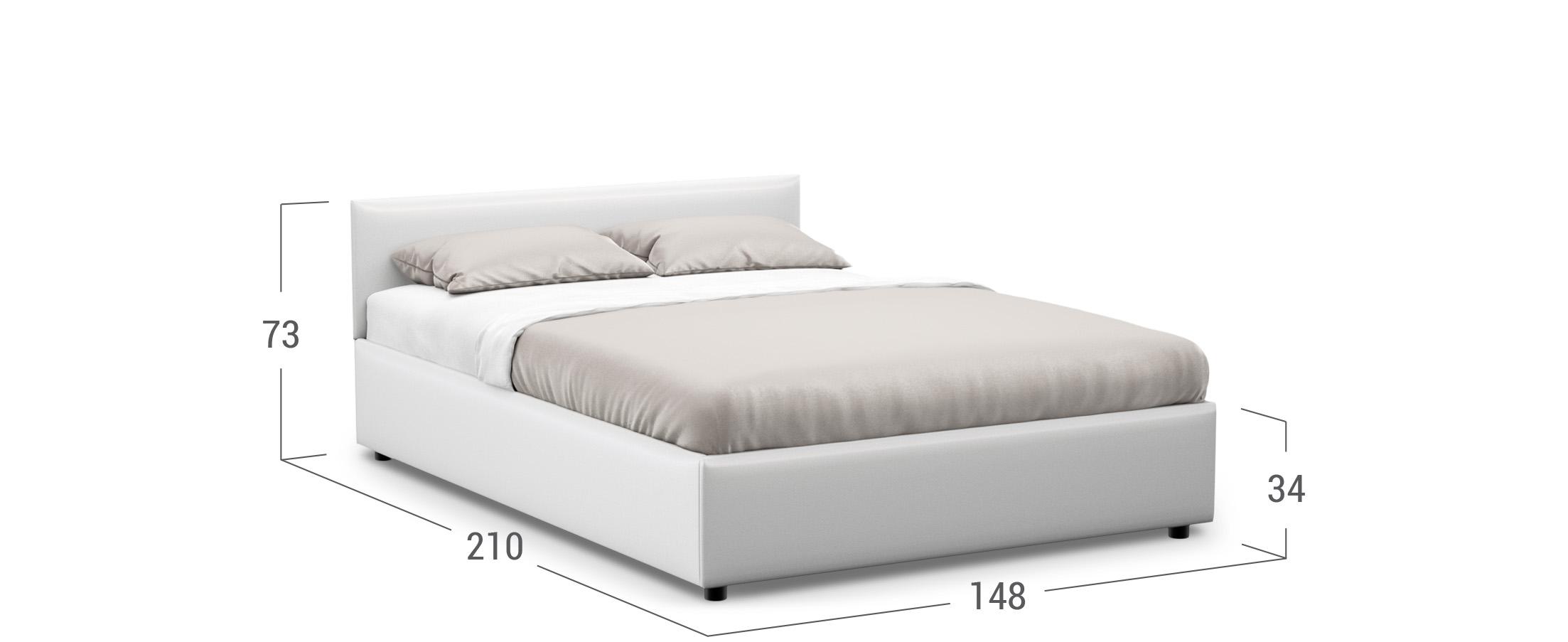 Кровать двуспальная Prima Classic New 140х200 Модель 1220