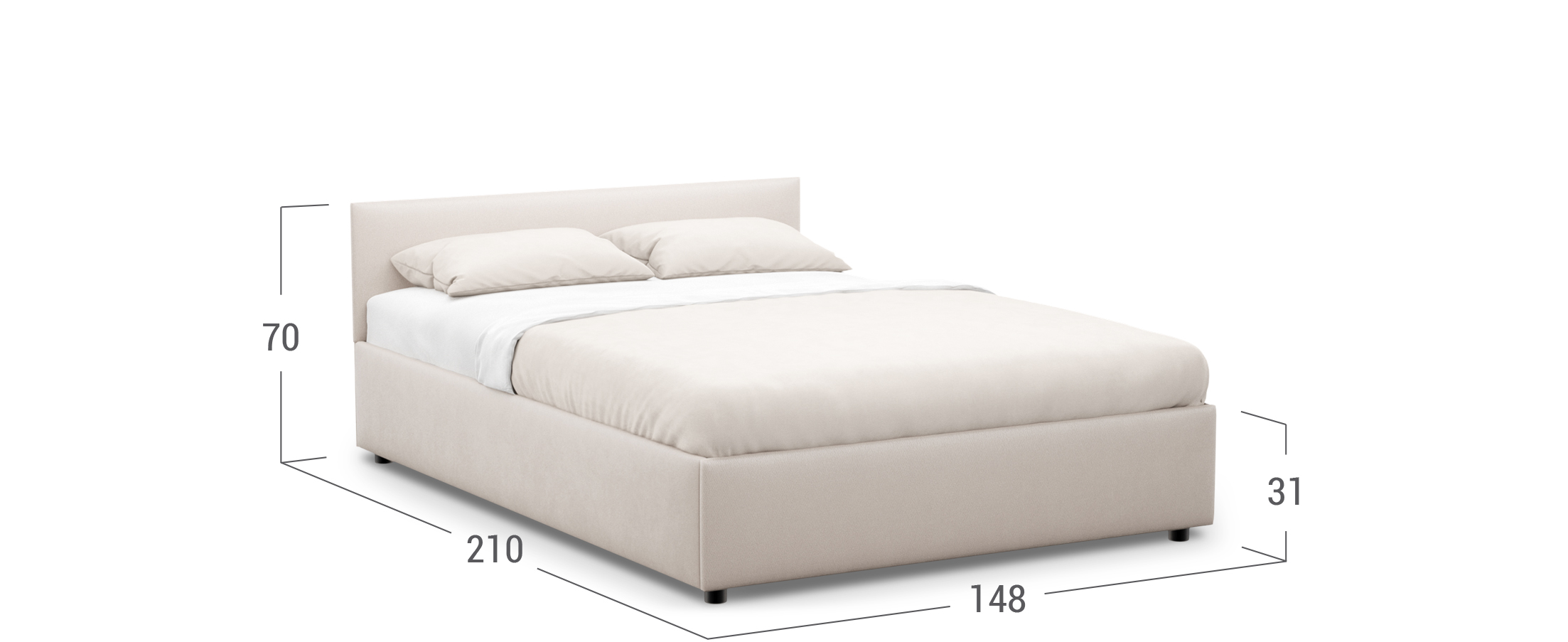 Кровать двуспальная Irida 140х200 Модель 1220